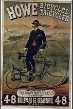 Vintage Poster Howe Bicycles Tricycles VCP086 Art Print Canvas A4 A3 A2 A1