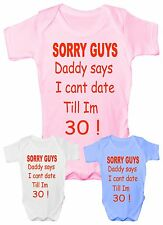 Sorry Daddy Says Funny Babygrow Vest Gift Boy Girl Baby Clothing