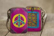 Natural Life Vegan Leather Wristlet Phone Carrier & Coin Purse with Appliques