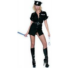 Cop Costume Adult Police Woman Halloween Fancy Dress