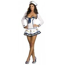 Sailor Costume Adult Womens Sexy Navy Pin-up Girl Halloween Fancy Dress