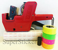 MX-5500 1 Line Price Tag Gun Labeler +1 tube Color Tag +1 Ink   Red Pink Green