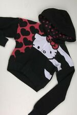 Hello Kitty Black Hearts and Stripes Hoodie Girls Child-3629