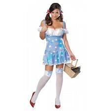 Dorothy Costume Adult Wizard of Oz Sequin Dress Halloween Fancy Dress