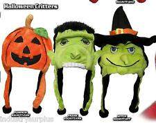 NEW Halloween Critter Caps Choice Of Witch, Pumpkin or Frankenstein Adult Sized