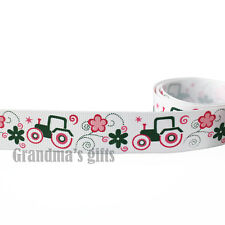 "7/8""22mm Car&Flowers Printed grosgrain ribbon 5/50/100 yards hairbow Wholesale"