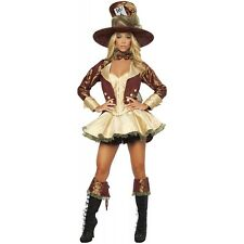 Sexy Mad Hatter Costume Women Adult Alice in Wonderland Halloween Fancy Dress