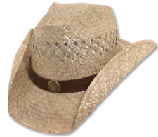 Bret Michaels Western Cowboy Straw Hat Star Concho Be a HALLOWEEN Country Star