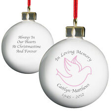 Personalised In Loving Memory Christmas Ornament - Bereavement Remembrance Gift