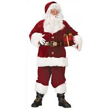 Santa Suit Adult Mens Deluxe Christmas Costume Fancy Dress