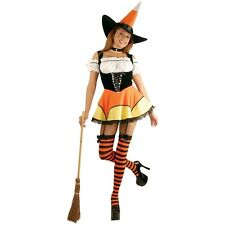 Candy Corn Witch Complete Outfit Costume Halloween Fancy Dress