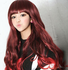 "t-lm025 WAVY CURL SHINNING DOROTHY FULL WIG / WIGS 26""(66CM) THREE COLORS"