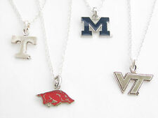 NCAA Collegiate Silver Chain Necklace Officially Licensed Jewelry ChooseTeam