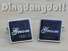 Black Square Wedding Day Cufflinks Groom and other titles available Gift