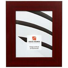 "Craig Frames Bauhaus, 2"" Modern Red Mahogany Picture Frame"