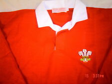 WALES WELSH  ADULTS  TRADITIONAL RUGBY SHIRT  FEATHERS  FULL SLEEVE  ALL SIZES