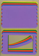 Your choice of colors on Zigzag Frames/Background/Titles Die Cuts - AccuCut