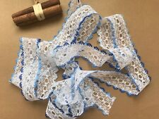 10 mts **CHOICE OF 27 COLOURS** SUPERIOR DOVECRAFT EYELET KNITTING IN LACE