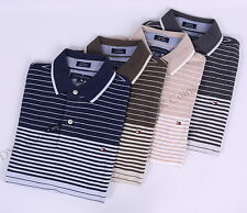 Tommy Hilfiger Men Pique Stripe Short Sleeve Custom Fit Polo Shirt -$0 Free Ship
