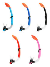 STANDARD SNORKEL BY TBF TWO BARE FEET - snorkelling purge valve CHOICE OF COLOUR