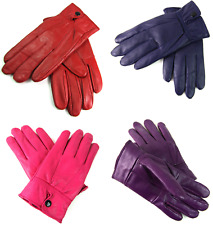 LADIES NEW SUPER SOFT LEATHER FULLY LINED GLOVES IN VARIOUS COLOURS
