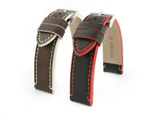 GENUINE LEATHER WATCH STRAP PORTO 18 MM, 20 MM, 22 MM, 24 MM US