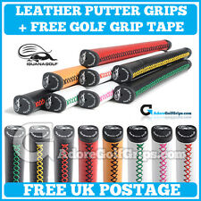Iguana Golf Tour Leather Pistol Putter Grip - All Colours - Free Post + Tape