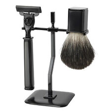 FMG 3 Piece Shaving Set Badger Brush & Mach3 Razor 3 Colours to Choose From