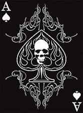 Ace Of Spades and Skull Black T-Shirt Any Size ~Cool Design~