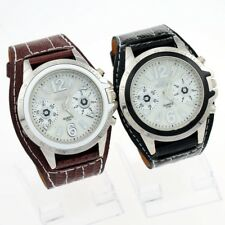 Luxury Brown Synthetic Leather Band Quartz Wrist Watch Xmas gift U5