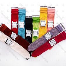 New Colorful Casual Braided Weaved Rope Band Quartz Lady WristWatch Wrist Watch