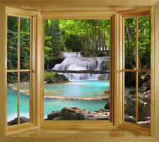 TROPICAL THAILAND WINDOW ILLUSION MURAL PEEL & STICK LARGE SCENE WALL DECAL
