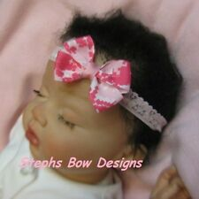 MULTI PINK US ARMY US NAVY DIGITAL CAMO CAMOFLAUGE DAINTY HAIR BOW HEADBAND