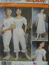 Victorian Civil War underwear bloomers chemise corset sewing pattern  NEW
