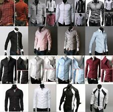 Promotion! PJ Mens Long Sleeve Formal/Business Dress Shirt Casual Shirts Tops