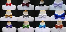 New 14 color choice classic Satin bow tie 4 boy Formal Occasion Tuxedo Vest Suit