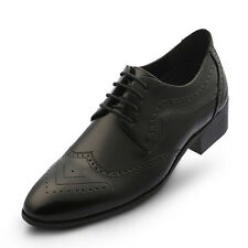 New Trend Mens Elevator Taller Height Incresing Dress Formal Shoes Black