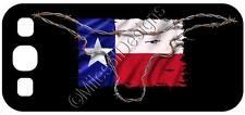 Samsung Galaxy S3 Custom Cover Case Texas Flag Barb Wire Longhorn Lone Star