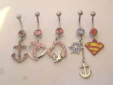 Wholesale Job Lot Dangling Belly Navel Bars 10 20 50 100 Low Prices