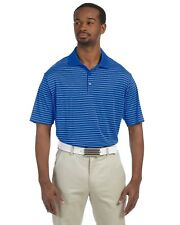 Adidas Golf Mens Climalite Moisture Wicking Striped Polo Shirt CLEARANCE Reg $51