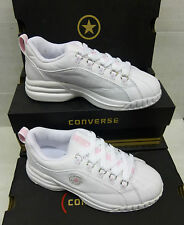 """Converse Girls White Leather Trainers """"KIDS CYNCH"""""""