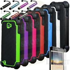 Rugged Armor Hybrid Hard Case Cover Samsung Galaxy Note i717 AT&T T879 T-Mobile