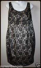BRAND NEW *PEA IN A POD* BLACK LACE MATERNITY DRESS FULLY LINED Sizes 8-10-12-14