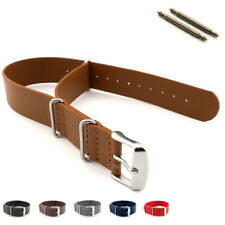Genuine Leather Military Watch Strap Band NATO G10 MoD Design with Spring Bars