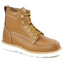 """Rhino 62T06 Mens Butternut 6"""" Oil Resistant Moc Toe Lace Up Work Boots"""