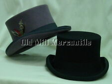 Mens Black OR Gray Top Hat Tophat Topper sizes S-XL  fully lined