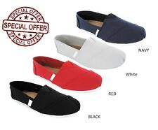 LADIES WOMENS FLAT SLIP ON ESPADRILLES PUMPS CANVAS PLIMSOLES SHOES SIZE 3 - 8