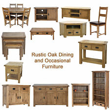 Rustic Solid Oak Dining and Occasional Furniture