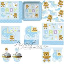 Baby Shower Teddy Baby Blue Design Partyware Baby Boy PartyTable Decorations