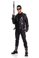 Adult Men's Terminator Halloween Party Costume Jacket Glasses Motorcycle Gloves